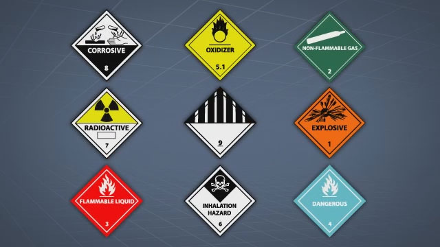 dot hazard placards