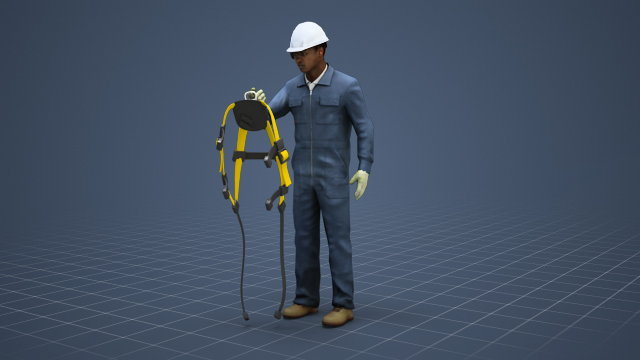 how to put on a safety harness video