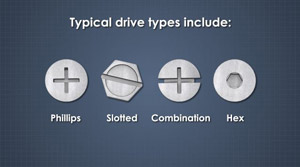 different drive or head types