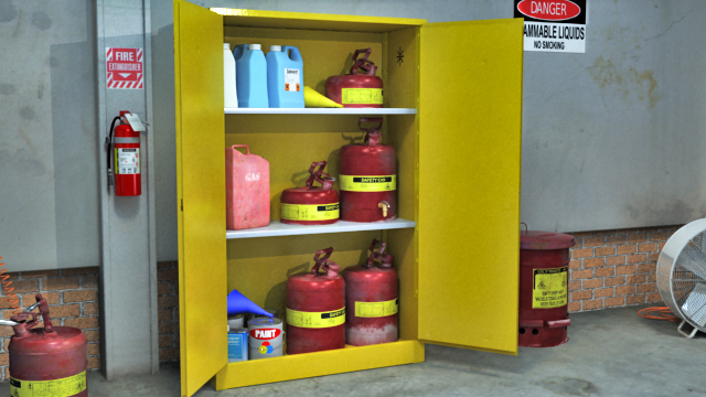 Use Cabinets Or Shelves Designed For The Hazards Of The Chemicals Being  Stored.