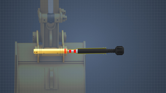 A slide hammer moves the point of impact back from the hardened object to be struck. The force of the impact within the hammer is transferred by a solid rod to the target object.