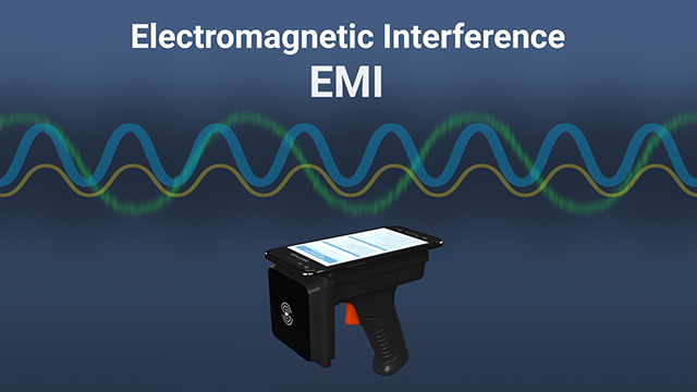 Electromagnetic waves from electrical devices can interfere with RFID systems.