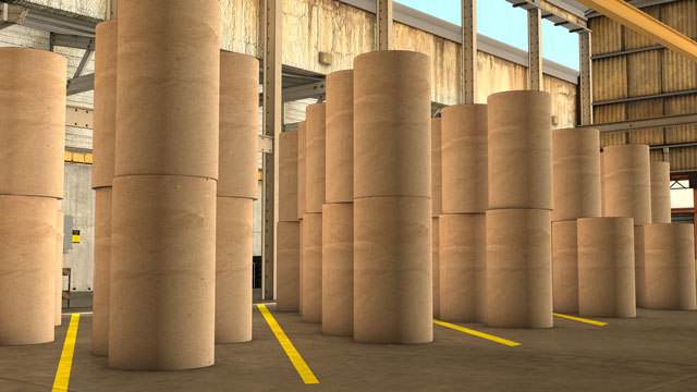 Rolls Are Moved Within The Warehouse By Lift Trucks Which Have Clamp  Attachments To Grab Rolls Without Damaging Them.