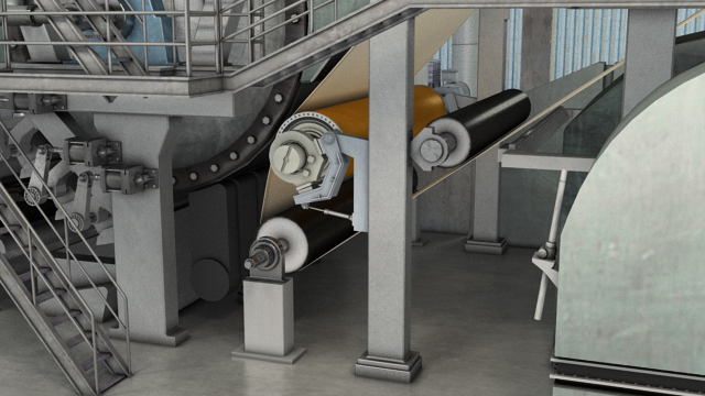 A shoe press can replace the suction pressure roll on a tissue machine