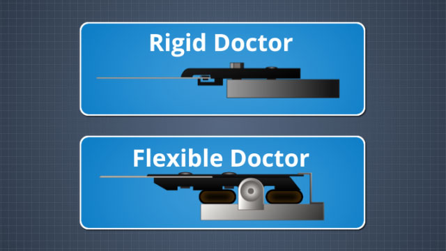 There are two types of doctor blade holders: rigid and flexible
