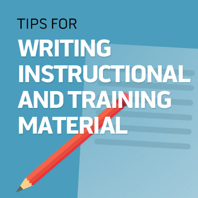 How to Write Training Materials Image