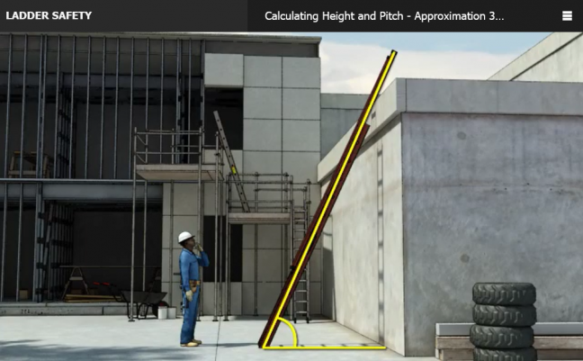 Ladder Safety Online Safety Training Course Image