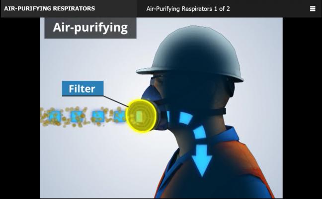 online respirator training course image