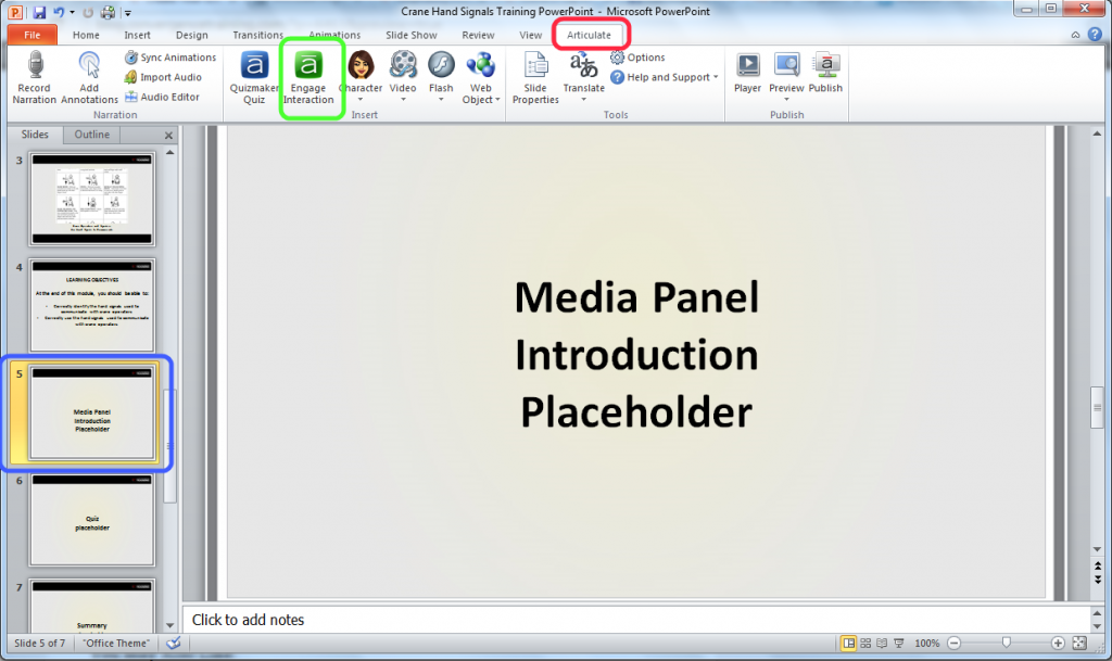 Adding an Engage Interaction to Your PowerPoint Presentation