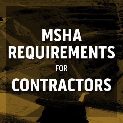 msha part 46 training requirements for contractors