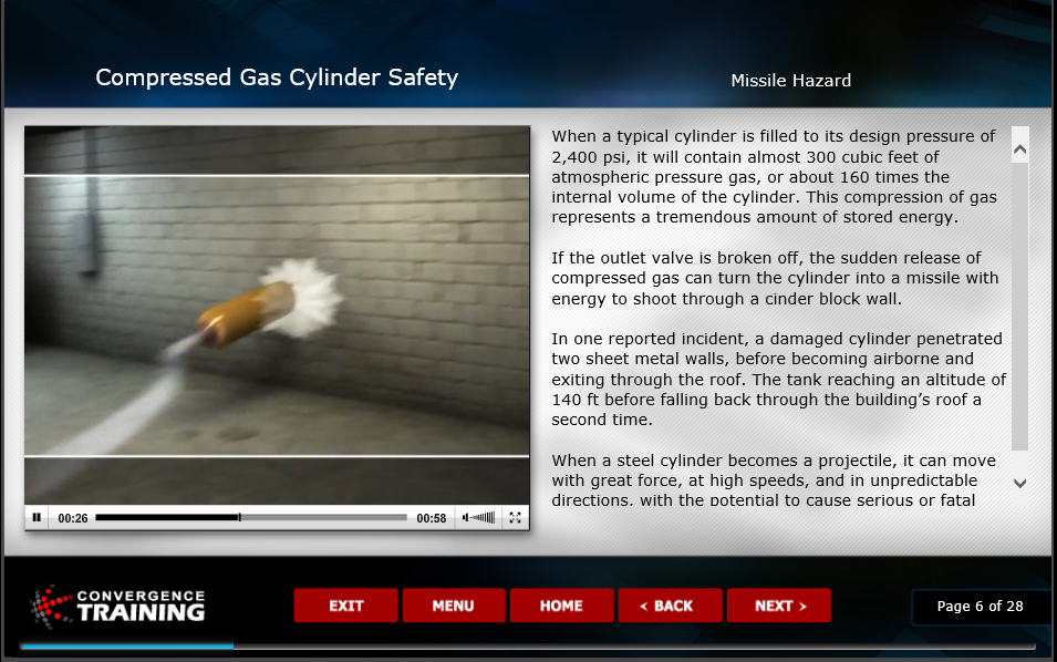 Online Compressed Gas Cylinder Safety eLearning Course Image