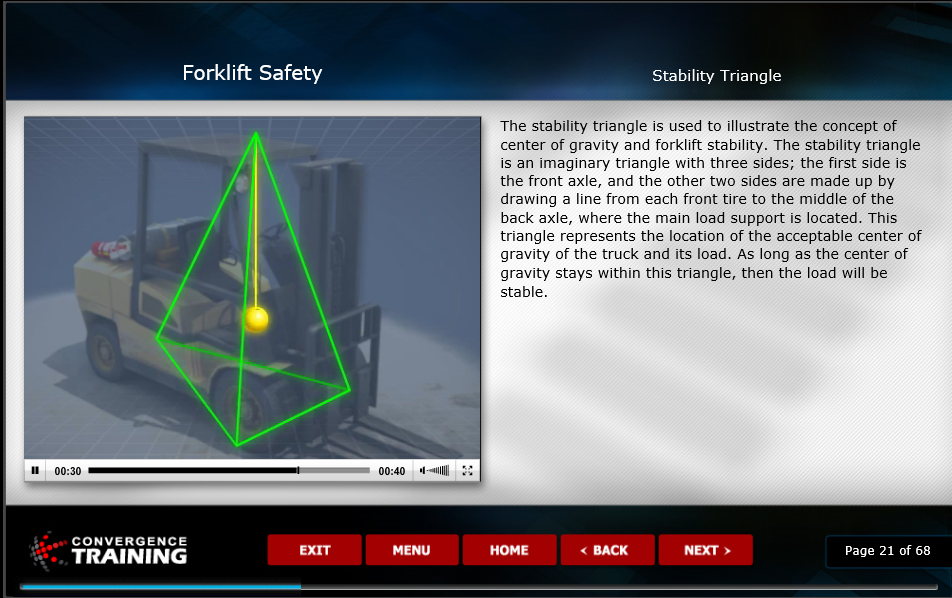 Online Forklift Safety Training eLearning Course Image
