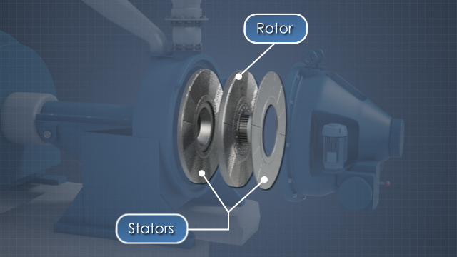 papermaking rotor and stators image