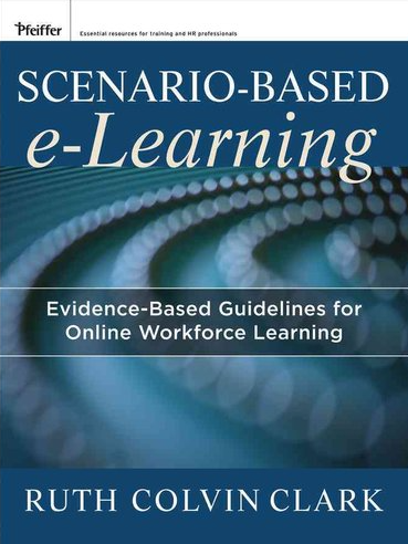 image of dr. ruth colvin clark's book on scenario-based learning