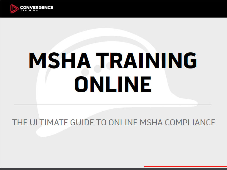 what is msha part 46? training requirements for surface mines