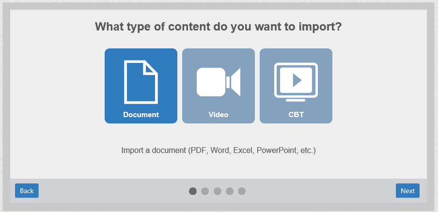 LMS Training Content Import Image
