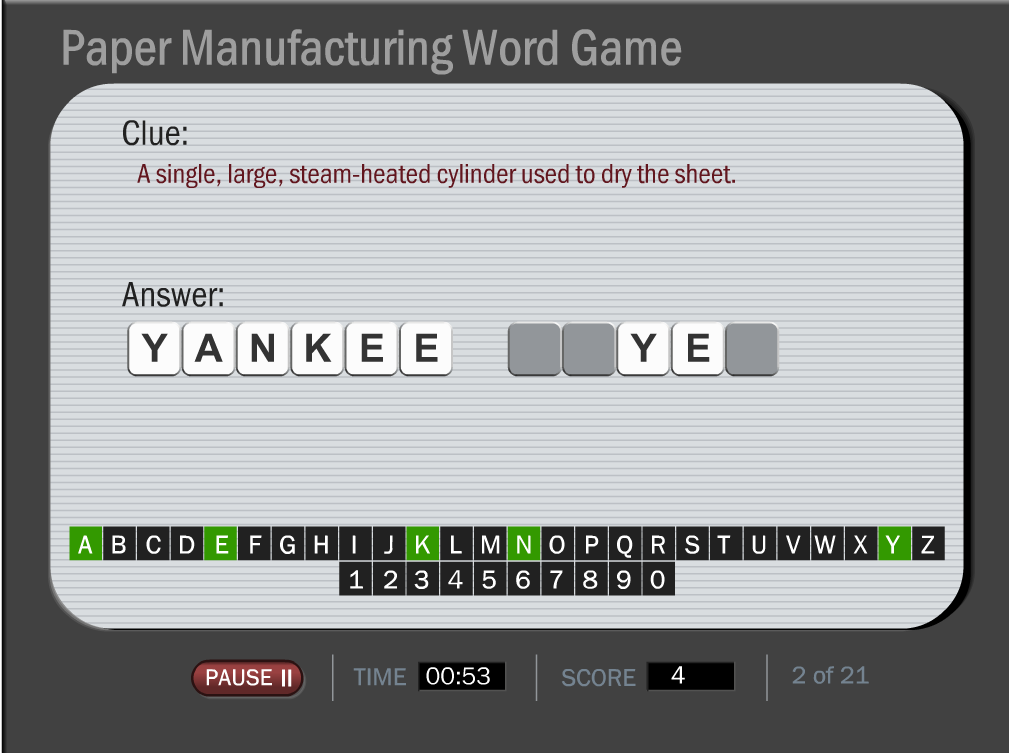 Paper Manufacturing Word Game Image