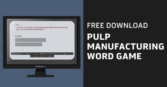 Pulp Manufacturing Word Game Image