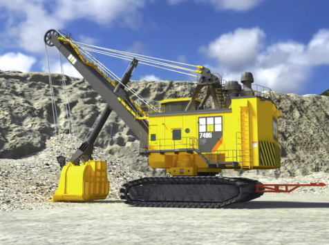 steam shovel mining image