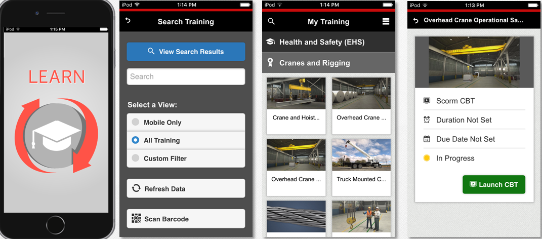 mobile apps and devices for manufacturing training image