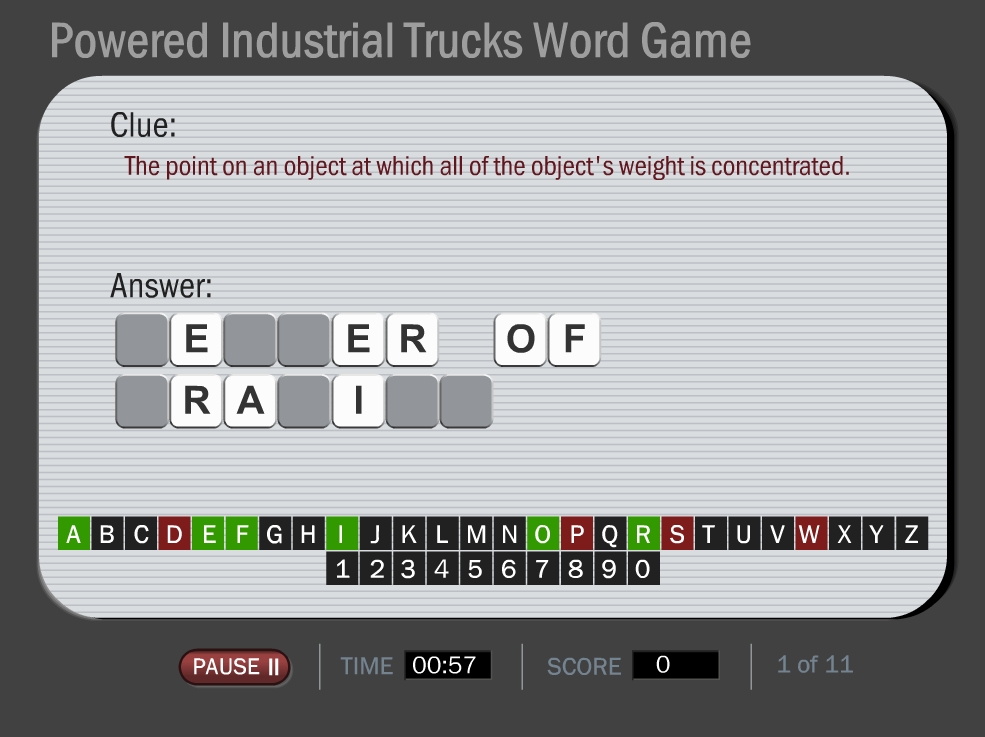 Fun Forklift Training Game