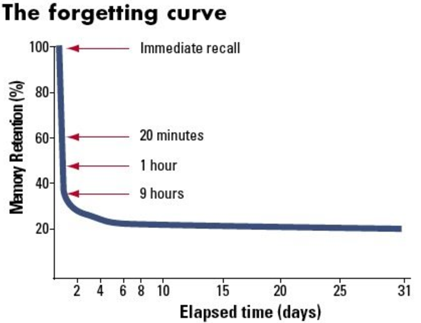 Forgetting Curve for Safety Training Image