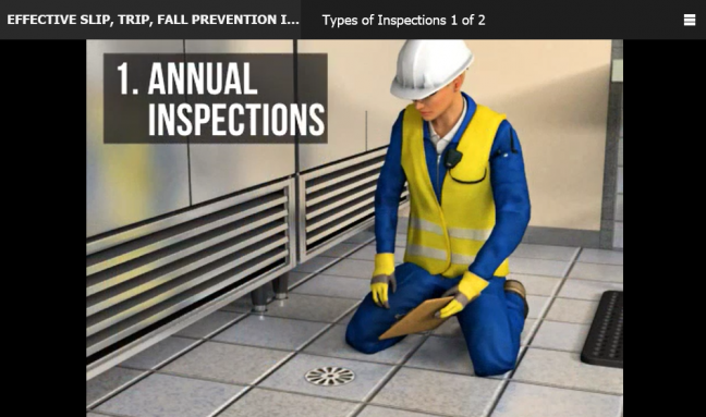 EHS Manager Performing an Annual Inspection Image