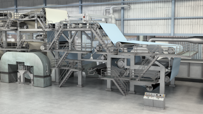 Tissue Machine 3D Model Forming Section Image