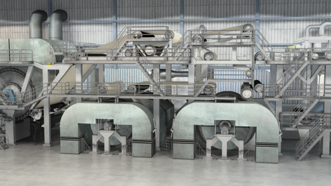 Tissue Machine 3D Model TAD Dryers