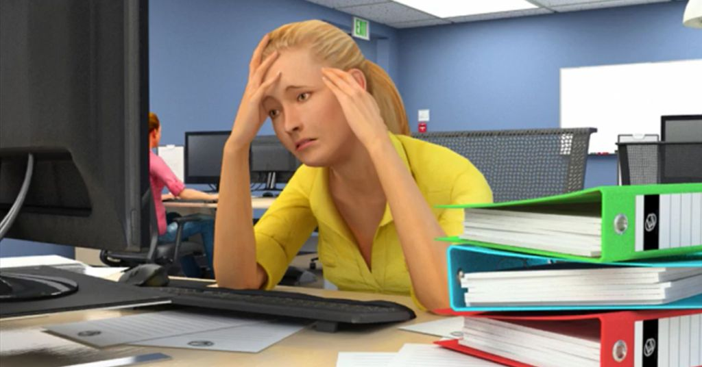 office stress management tips image