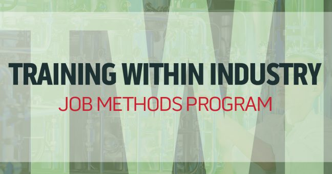 TWI Job Methods (JM) Program Image
