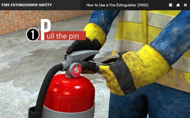 Pull the Pin How to Use a Fire Extinguisher PASS Method Image