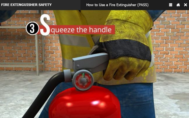 Pass Method How to Use Fire Extinguisher Squeeze Handle Image