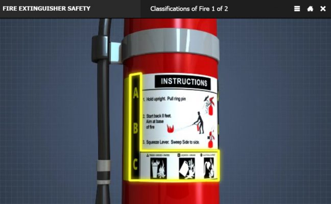Different Types of Fire Extinguishers-Label Image