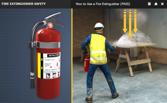 How to Use a Fire Extinguisher Rain Down Image