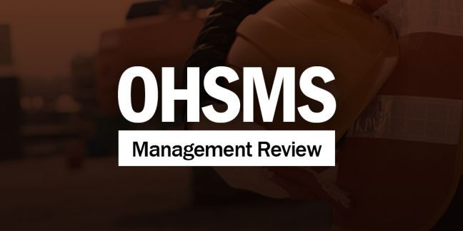 Management Review of an OHSMS Image