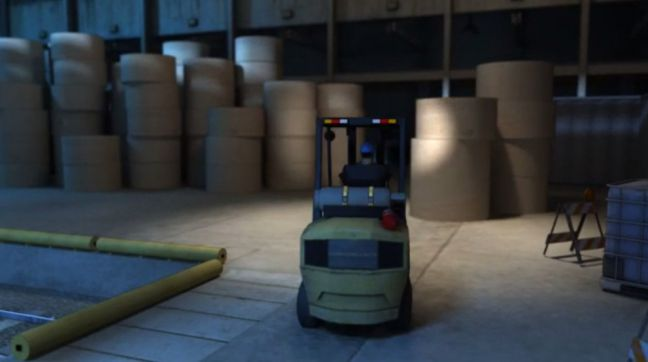 Forklift Operation Poor Lighting and Visibility Image