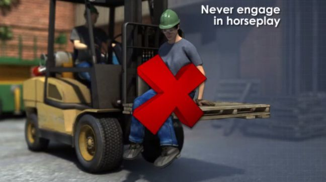 Forklift Don't Carry People Image