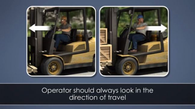 Forklift Driving Image