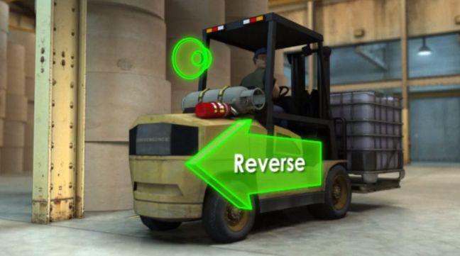 Forklift Reverse Image