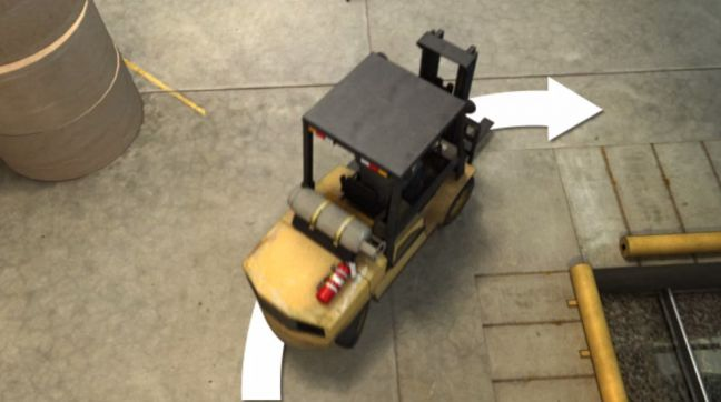 Forklift Turning Image