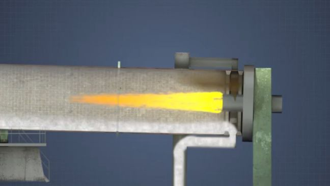 lime kiln burner image for better paper manufacturing training