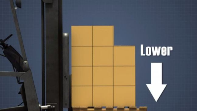 Lower Load on Forklift Image