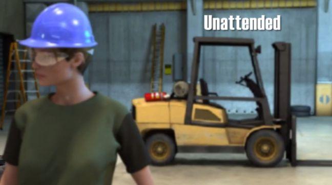 Image of Parking a Forklift