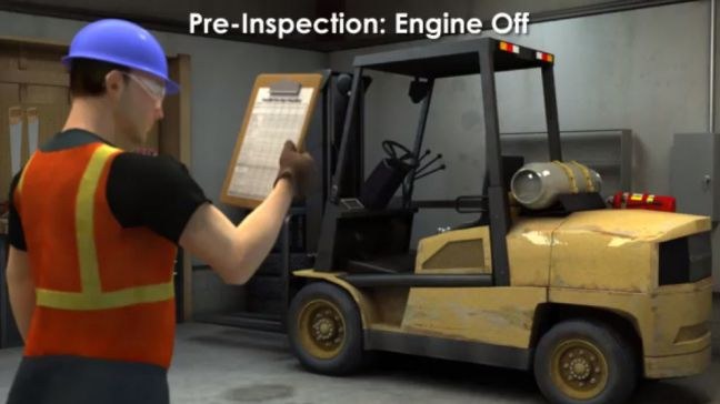 Forklift Engine Off PreInspection Image