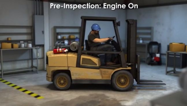 Forklift Preinspection Engine On Image