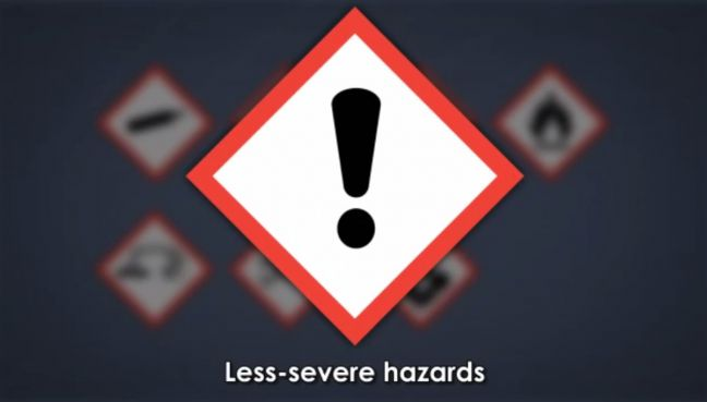 HazCom Pictogram Less Severe Hazards