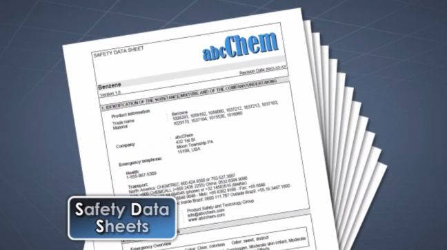 Safety Data Sheet Image