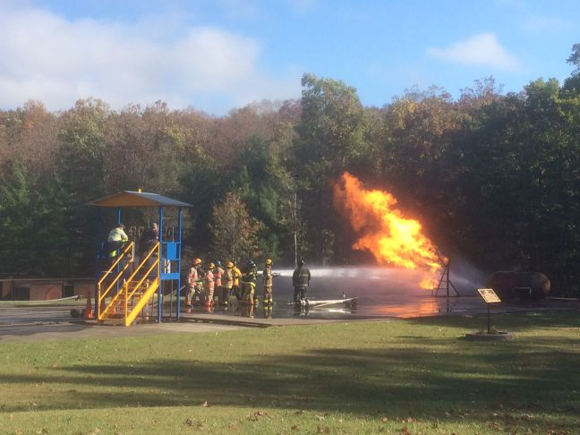 MSHA TRAM Fire Suppression Training Photo
