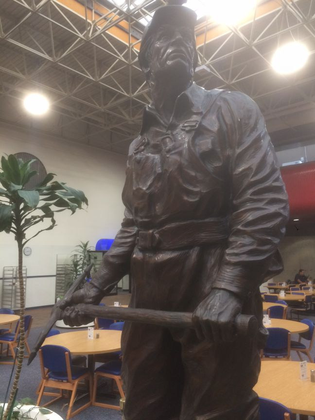 MSHA Miner Statue at Mining Academy